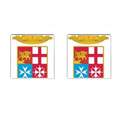 Coat Of Arms Of The Italian Navy Cufflinks (square) by abbeyz71