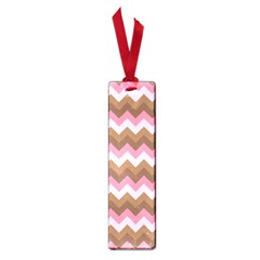 Shades Of Pink And Brown Retro Zigzag Chevron Pattern Small Book Marks by Nexatart