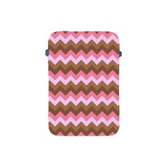 Shades Of Pink And Brown Retro Zigzag Chevron Pattern Apple Ipad Mini Protective Soft Cases by Nexatart
