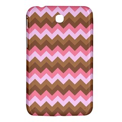 Shades Of Pink And Brown Retro Zigzag Chevron Pattern Samsung Galaxy Tab 3 (7 ) P3200 Hardshell Case  by Nexatart