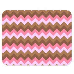 Shades Of Pink And Brown Retro Zigzag Chevron Pattern Double Sided Flano Blanket (medium)  by Nexatart