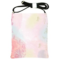 Watercolor Floral Shoulder Sling Bags by Nexatart