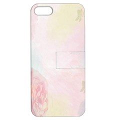 Watercolor Floral Apple Iphone 5 Hardshell Case With Stand by Nexatart