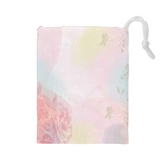 Watercolor Floral Drawstring Pouches (large)  by Nexatart