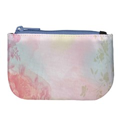 Watercolor Floral Large Coin Purse by Nexatart