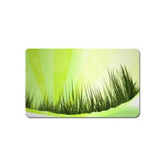 Green Background Wallpaper Texture Magnet (name Card) by Nexatart