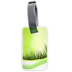 Green Background Wallpaper Texture Luggage Tags (one Side)  by Nexatart