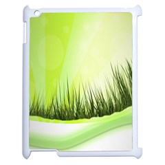 Green Background Wallpaper Texture Apple Ipad 2 Case (white) by Nexatart