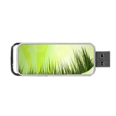 Green Background Wallpaper Texture Portable Usb Flash (two Sides) by Nexatart