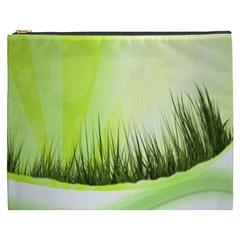 Green Background Wallpaper Texture Cosmetic Bag (xxxl)  by Nexatart
