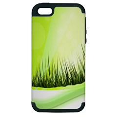 Green Background Wallpaper Texture Apple Iphone 5 Hardshell Case (pc+silicone) by Nexatart