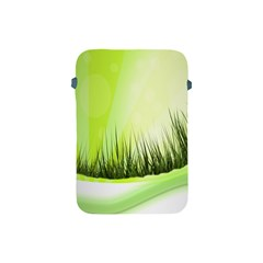 Green Background Wallpaper Texture Apple Ipad Mini Protective Soft Cases by Nexatart