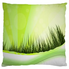 Green Background Wallpaper Texture Large Flano Cushion Case (two Sides) by Nexatart