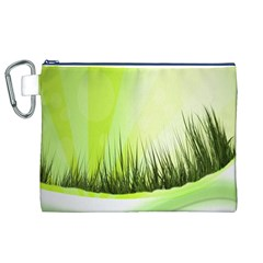 Green Background Wallpaper Texture Canvas Cosmetic Bag (xl) by Nexatart