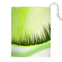 Green Background Wallpaper Texture Drawstring Pouches (xxl) by Nexatart