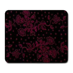 Pink Floral Pattern Background Large Mousepads by Nexatart