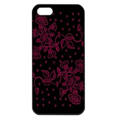 Pink Floral Pattern Background Apple Iphone 5 Seamless Case (black) by Nexatart