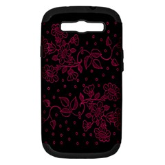 Pink Floral Pattern Background Samsung Galaxy S Iii Hardshell Case (pc+silicone) by Nexatart