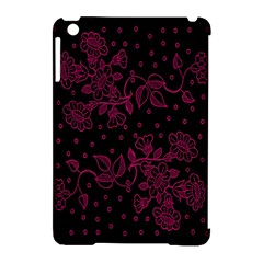 Pink Floral Pattern Background Apple Ipad Mini Hardshell Case (compatible With Smart Cover) by Nexatart