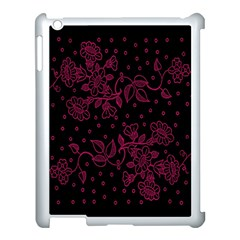 Pink Floral Pattern Background Apple Ipad 3/4 Case (white) by Nexatart