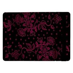 Pink Floral Pattern Background Samsung Galaxy Tab Pro 12 2  Flip Case by Nexatart