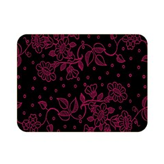 Pink Floral Pattern Background Double Sided Flano Blanket (mini)  by Nexatart