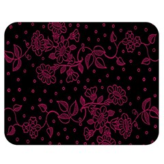 Pink Floral Pattern Background Double Sided Flano Blanket (medium)  by Nexatart