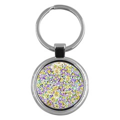 Lovely Floral 31e Key Chains (round)  by MoreColorsinLife