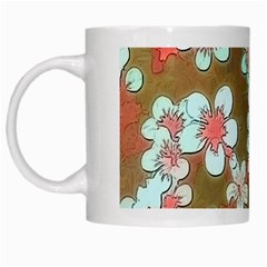Lovely Floral 29 A White Mugs by MoreColorsinLife