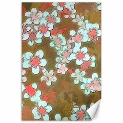 Lovely Floral 29 A Canvas 24  X 36  by MoreColorsinLife