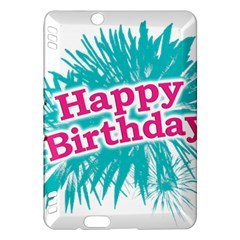 Happy Brithday Typographic Design Kindle Fire Hdx Hardshell Case by dflcprints