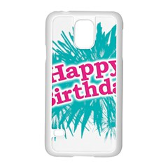 Happy Brithday Typographic Design Samsung Galaxy S5 Case (white) by dflcprints