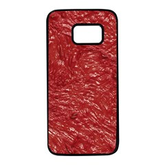 Thick Wet Paint E Samsung Galaxy S7 Black Seamless Case by MoreColorsinLife