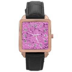 Thick Wet Paint G Rose Gold Leather Watch  by MoreColorsinLife