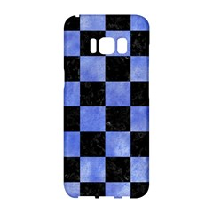 Square1 Black Marble & Blue Watercolor Samsung Galaxy S8 Hardshell Case