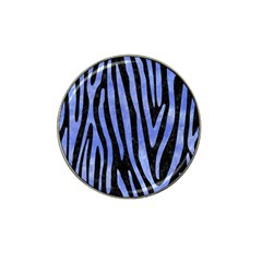 Skin4 Black Marble & Blue Watercolor (r) Hat Clip Ball Marker by trendistuff