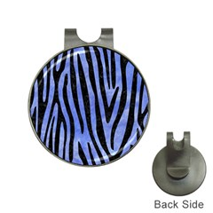 Skin4 Black Marble & Blue Watercolor Golf Ball Marker Hat Clip by trendistuff