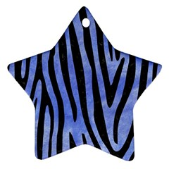 Skin4 Black Marble & Blue Watercolor Star Ornament (two Sides) by trendistuff