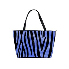 Skin4 Black Marble & Blue Watercolor Classic Shoulder Handbag by trendistuff