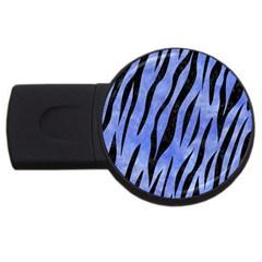Skin3 Black Marble & Blue Watercolor (r) Usb Flash Drive Round (2 Gb) by trendistuff