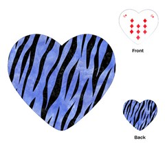 Skin3 Black Marble & Blue Watercolor (r) Playing Cards (heart) by trendistuff