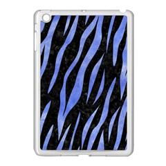 Skin3 Black Marble & Blue Watercolor Apple Ipad Mini Case (white) by trendistuff
