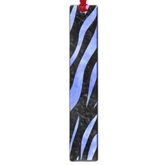 Skin3 Black Marble & Blue Watercolor Large Book Mark by trendistuff