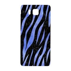 Skin3 Black Marble & Blue Watercolor Samsung Galaxy Alpha Hardshell Back Case by trendistuff