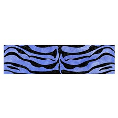 Skin2 Black Marble & Blue Watercolor (r) Satin Scarf (oblong) by trendistuff