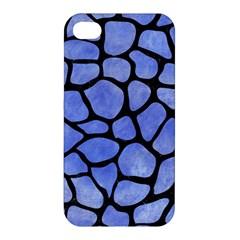 Skin1 Black Marble & Blue Watercolor Apple Iphone 4/4s Hardshell Case by trendistuff