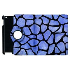 Skin1 Black Marble & Blue Watercolor Apple Ipad 2 Flip 360 Case by trendistuff