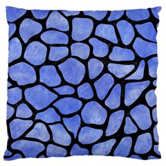 Skin1 Black Marble & Blue Watercolor Standard Flano Cushion Case (one Side) by trendistuff