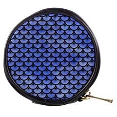 Scales3 Black Marble & Blue Watercolor (r) Mini Makeup Bag by trendistuff