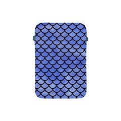 Scales1 Black Marble & Blue Watercolor (r) Apple Ipad Mini Protective Soft Case by trendistuff